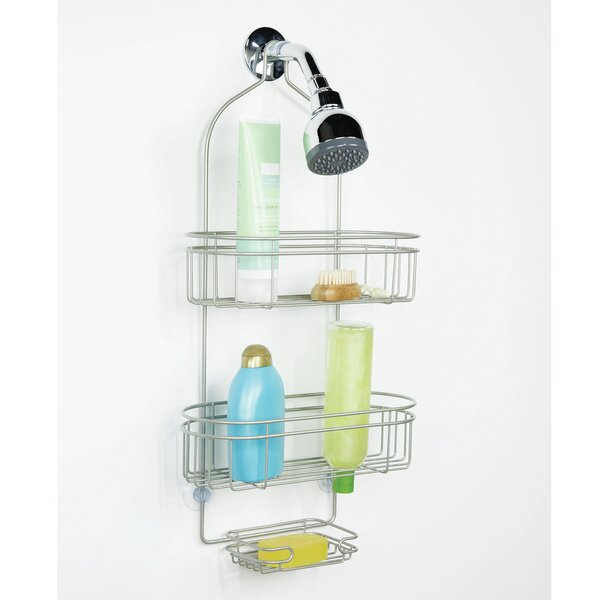 Emily Over the Shower 3 Tier Deluxe Westport Shower Caddy by Rebrilliant
