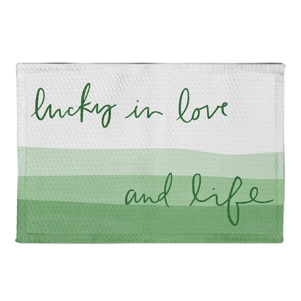 Hutson Lucky In Love White Area Rug by Latitude Run