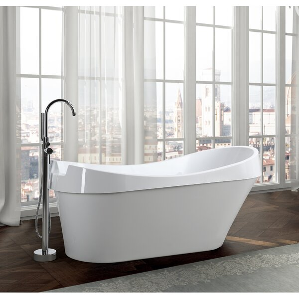 Barletta 69 x 31 Freestanding Soaking Bathtub by Bellaterra Home