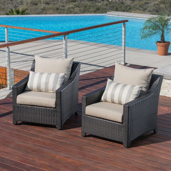 Northridge Patio Chair with Cushions (Set of 2) by Three Posts Three Posts