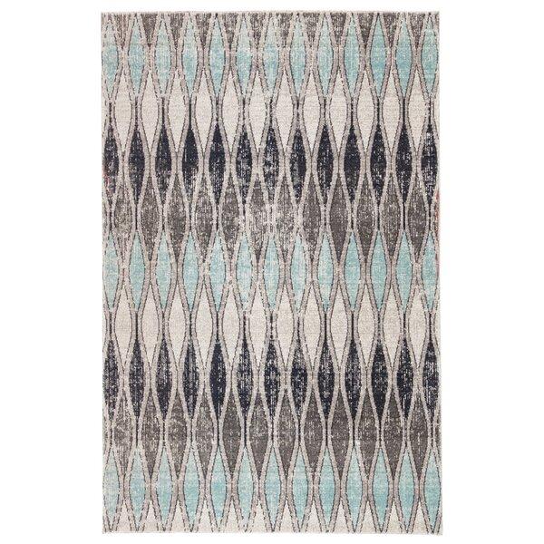 Boswell Flint Gray/Arctic Indoor/Outdoor Area Rug by Wrought Studio