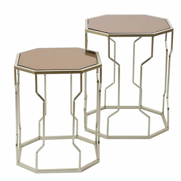 Buddy Decorative Round 2 Piece Nesting Tables by Mercer41