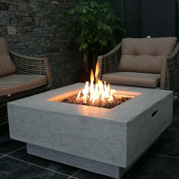 Manhattan Concrete Gas Fire Pit Table by Elementi