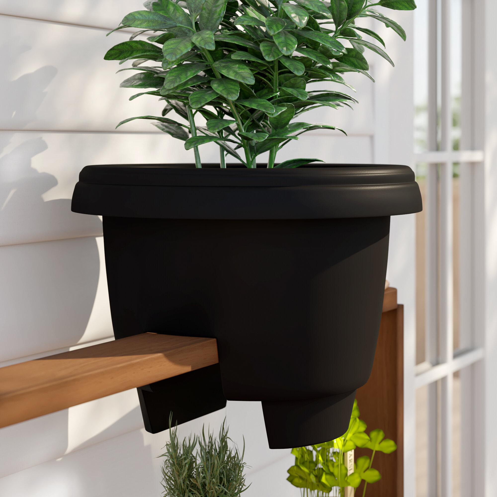 Picture of: Sol 72 Outdoor Ellington Deck Balcony Rail Self Watering Railing Planter Reviews Wayfair Ca