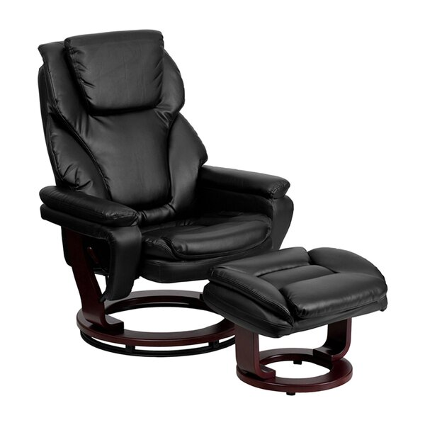 Turn Up Manual Glider Recliner With Ottoman By Latitude Run
