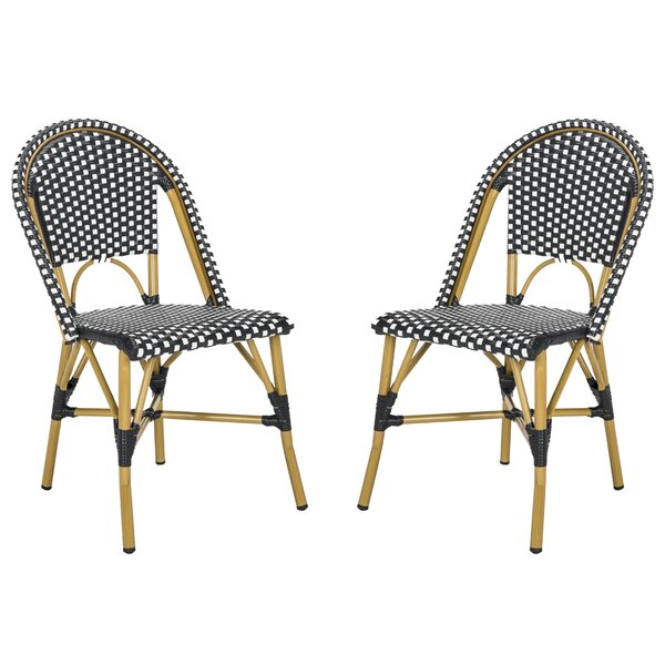 Rebeca Indoor-Outdoor French Stacking Patio Dining Chair (Set of 2) by Mistana