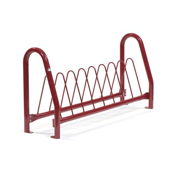 Traditional 8 Bike Triangular Freestanding Bike Rack by Anova