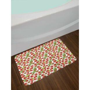 Kitchen Vibrant Strawberry Bath Rug
