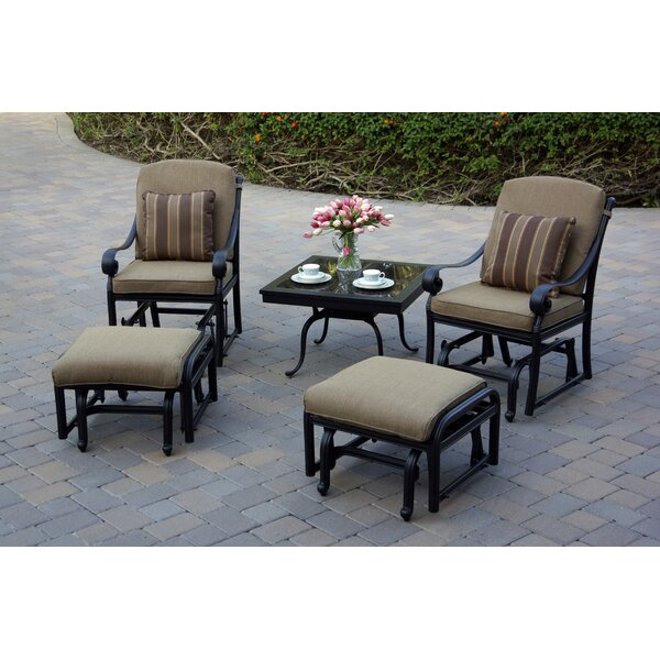 Windley 5 Piece 2 Person Seating Group with Cushions by Fleur De Lis Living
