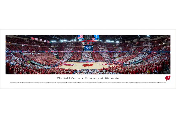 NCAA Wisconsin, University of - Basketball by Christopher Gjevre Photographic Print by Blakeway Worldwide Panoramas, Inc