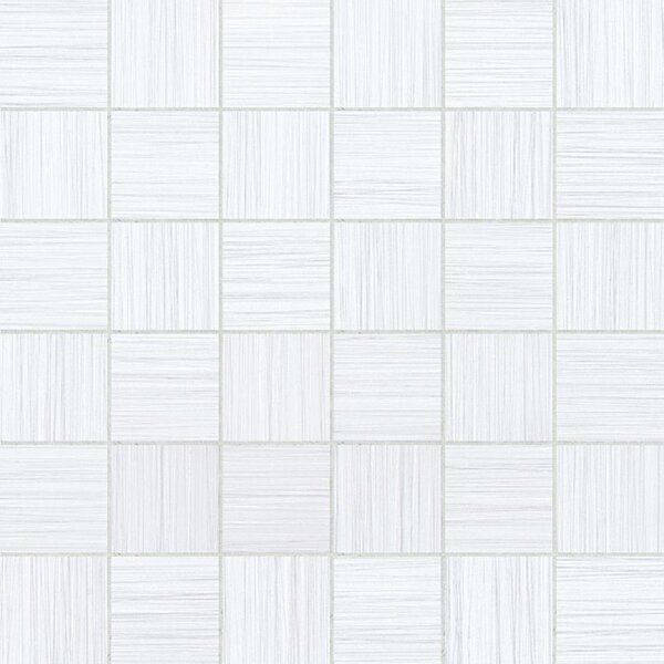 Bamboo 2 x 2 Porcelain Mosaic Tile in Blanc Linen by Travis Tile Sales