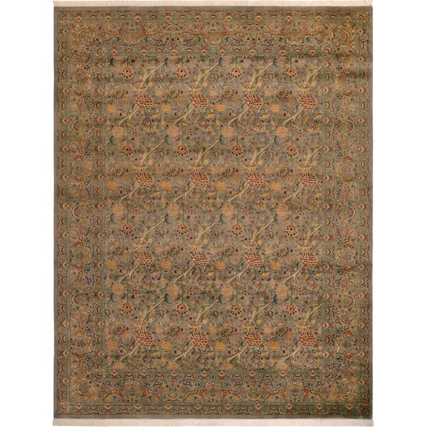 One-of-a-Kind Aaru Hand-Knotted 1960s Beige 9'2 x 12'4 Wool Area Rug
