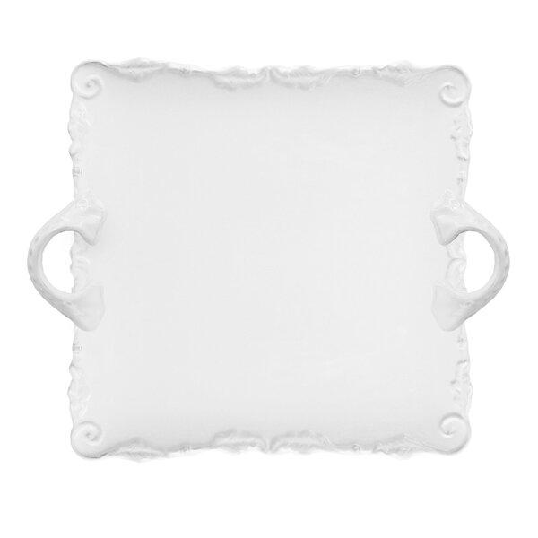 Bianca Wave Square Platter by Design Guild