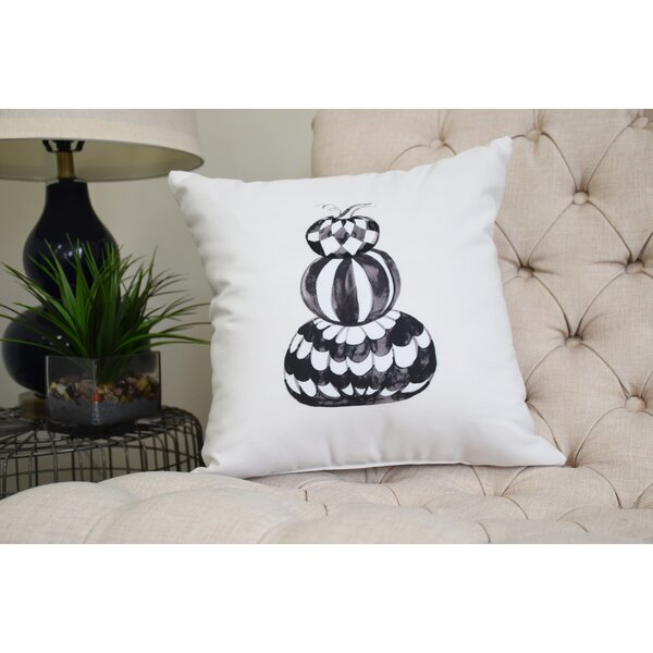 Maser Pumpkin Stack Halloween Throw Pillow by The Holiday Aisle