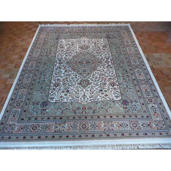One-of-a-Kind Josephson Hand-Knotted Green Area Rug by Canora Grey