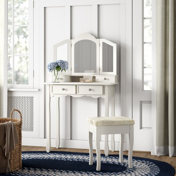 Cargo Wooden Vanity Set with Mirror by August Grove August Grove