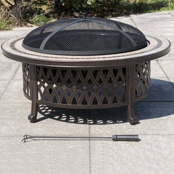 Marwick Cast Iron/Steel Wood Burning Fire Pit by Sunjoy