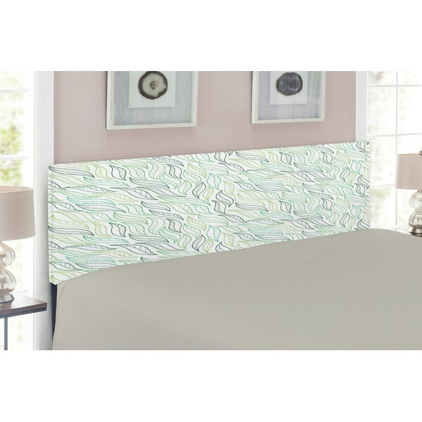 Leaf Queen Upholstered Panel Headboard by East Urban Home