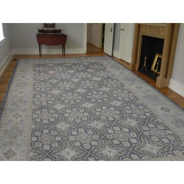 One-of-a-Kind Beaumont Hand-Knotted Gray 13'10 x 19'4 Wool Area Rug