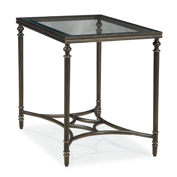 Fortun Glass Top End Table by Darby Home Co