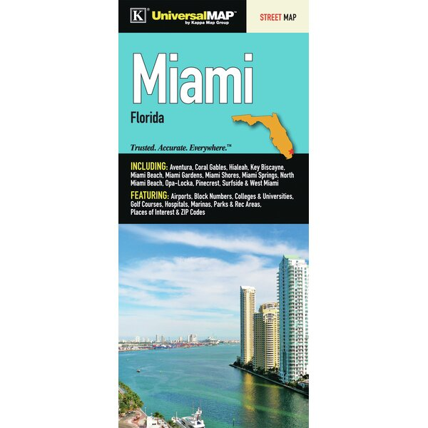 Miami/Dade County Florida Fold Map by Universal Map