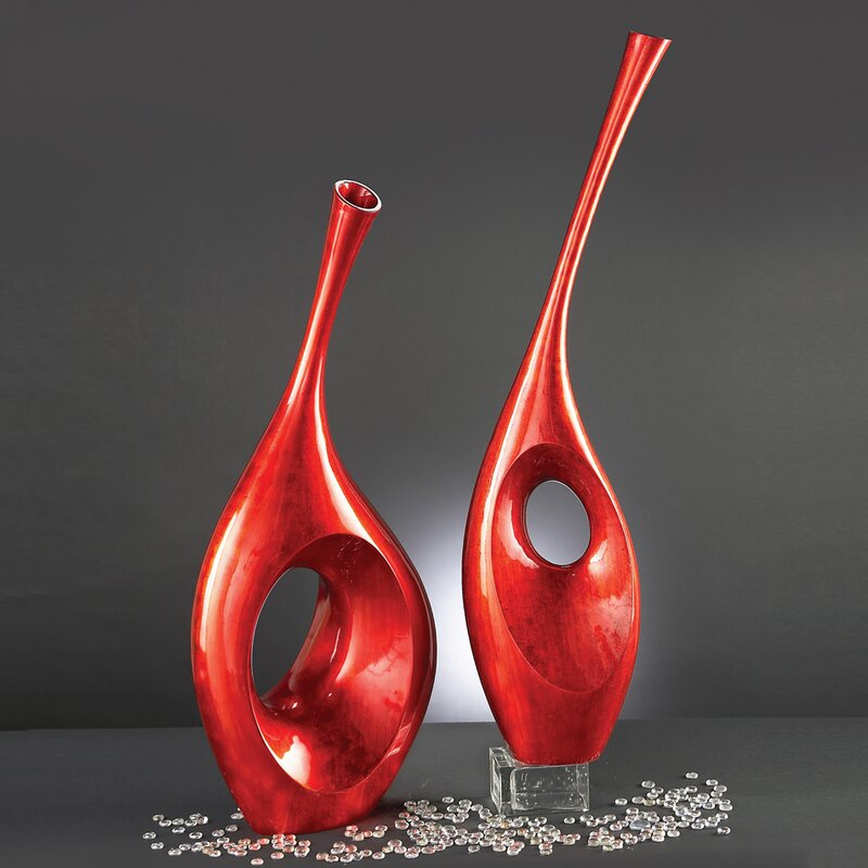 Orren Ellis Tall Contemporary Vase Sculpture Wayfair