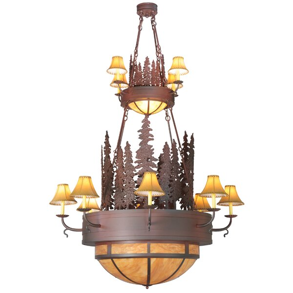 Gans 12 - Light Shaded Empire Chandelier By Loon Peak