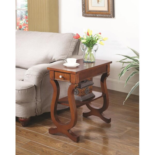 Celia End Table With Storage by Alcott Hill