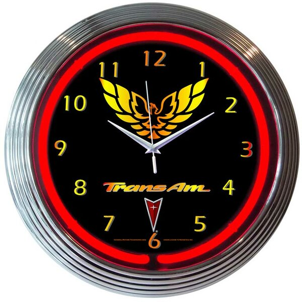15 Trans Am Wall Clock by Neonetics