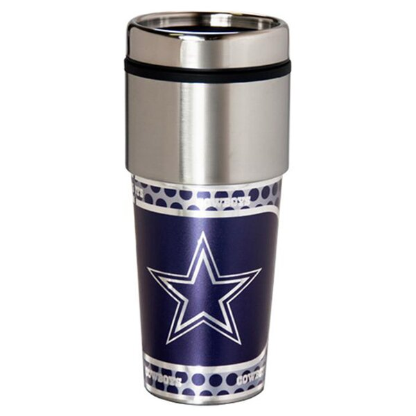NFL Cowboys Thermal 17 oz. Stainless Steel Travel Tumbler by JDS Personalized Gifts