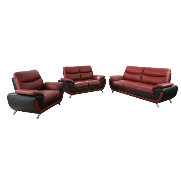 Lakeport 3 Piece Living Room Set by Orren Ellis