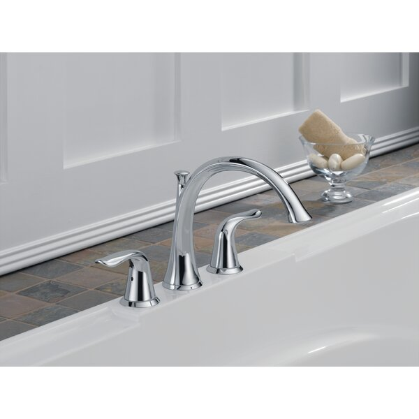 Lahara Double Handle Deck Mount Roman Tub Faucet Trim by Delta