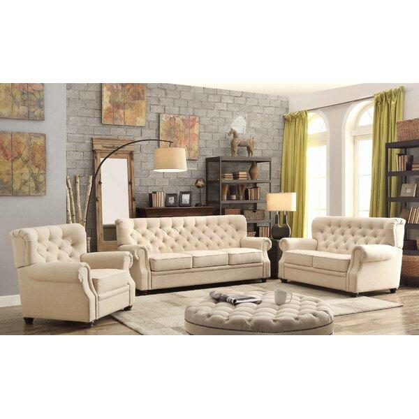 Asaro 3 Piece Living Room Set by Lark Manor