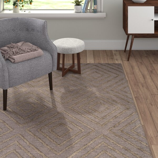 Berkeley Hand-Hooked Taupe/Black Area Rug by Langley Street