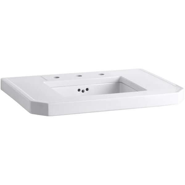 Kathryn® Ceramic Rectangular Undermount Bathroom Sink with Overflow by Kohler