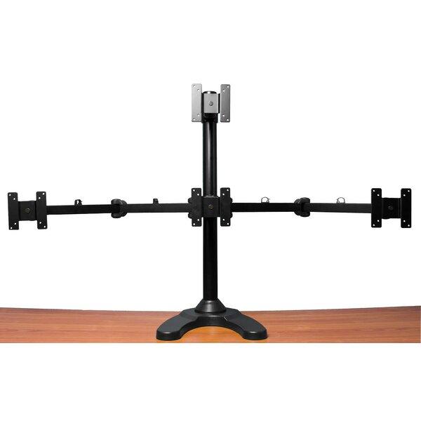 Quad LCD Monitor Freestanding Tilt And Swivel Desktop Mount For 24