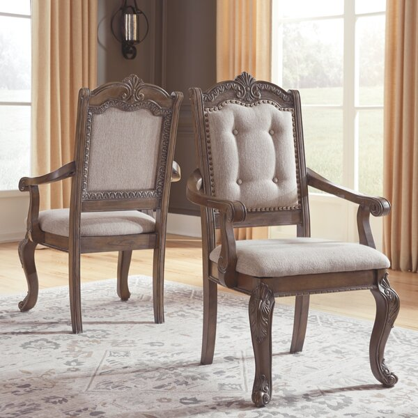 Traxler Upholstered Arm chair (Set of 2) by Astoria Grand Astoria Grand