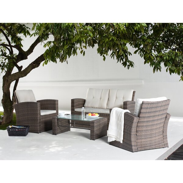 Farina 4 Piece Sofa Set with Cushions by Alcott Hill