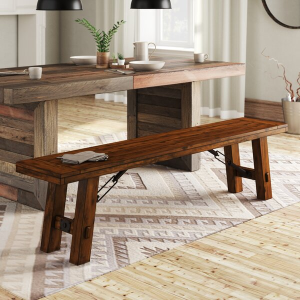 Hardin Solid Wood Bench by Loon Peak