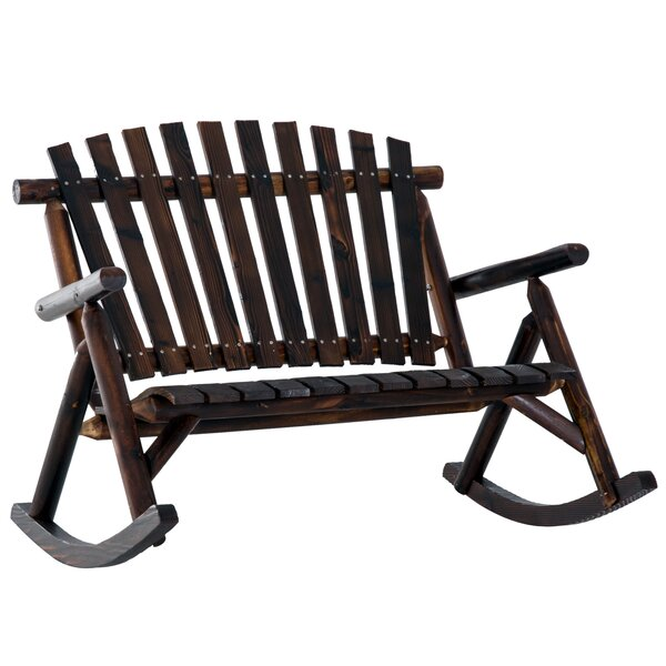 Hutson Outdoor Rocking Bench By Loon Peak by Loon Peak Looking for