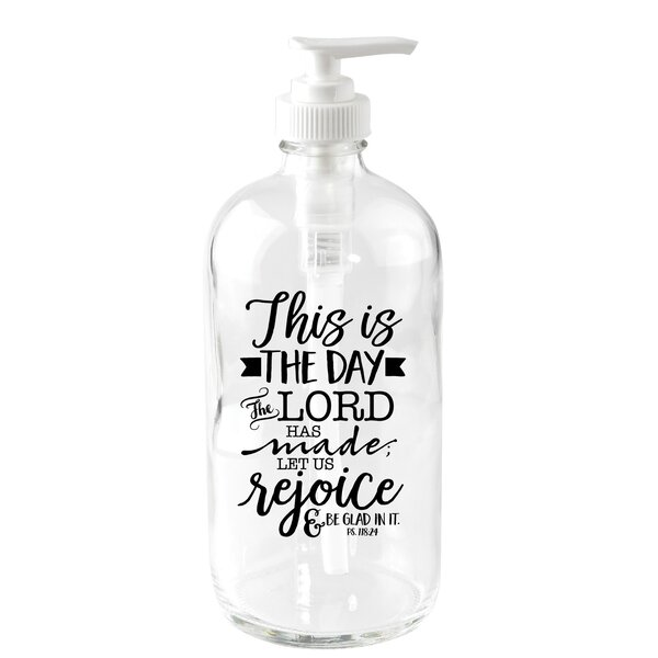 This is the Day 16 oz. Glass Soap Dispenser by Dexsa