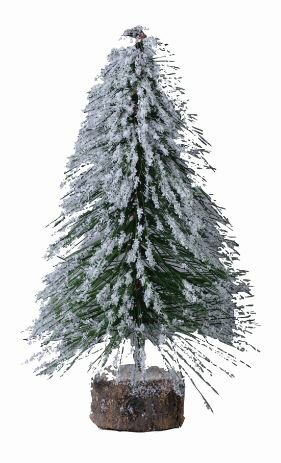 Snowy Brush 8.5 Green Artificial Christmas Tree by The Holiday Aisle