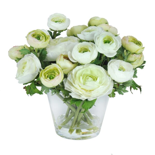 Ranunculus Floral Arrangement in Vase by Jane Seymour Botanicals