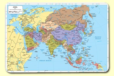 Asia Placemat (Set of 4) by Painless Learning Placemats