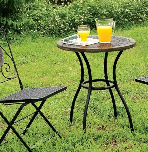 Villegas Stone/Concrete Bistro Table by Fleur De Lis Living