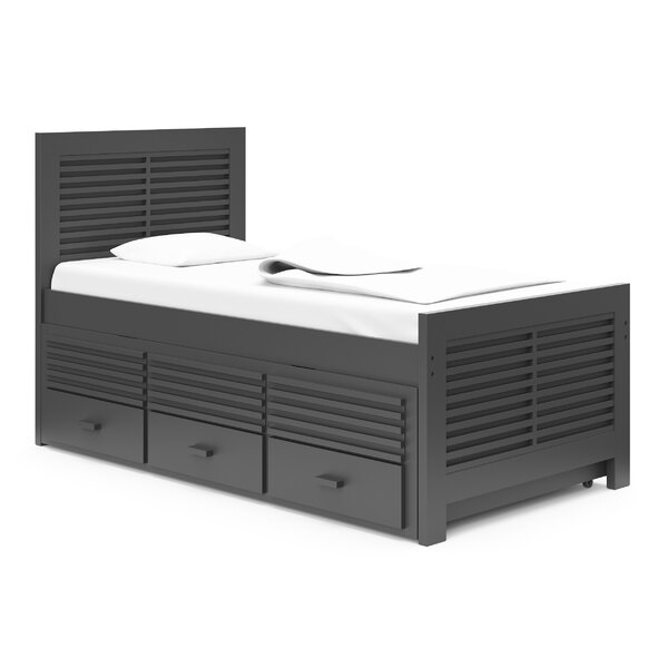 Milo Twin Mates Bed with 3 Drawers by Harriet Bee