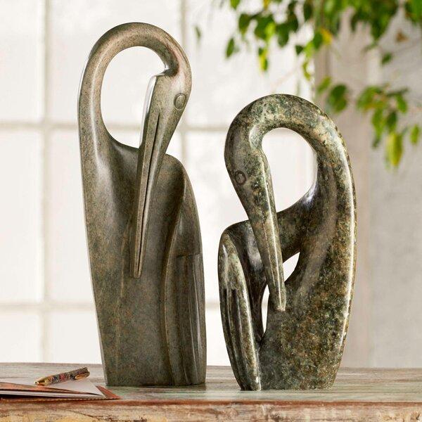 Devonshire Shona Crane Soapstone Zimbabwe Figurine by World Menagerie
