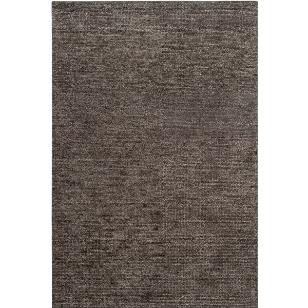 McArthur Hand-Knotted Gray Area Rug by Rosecliff Heights