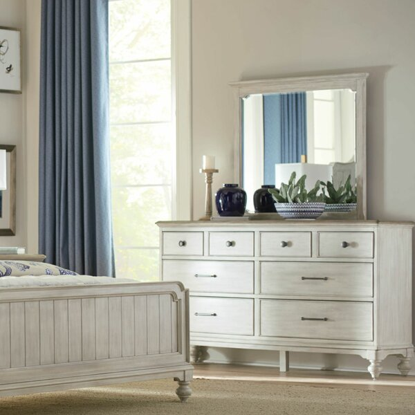 Marlene 8 Drawer Double Dresser with Mirror by One Allium Way