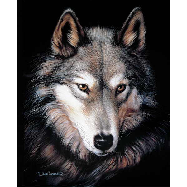 Remi Wolf Plush Blanket by Millwood Pines